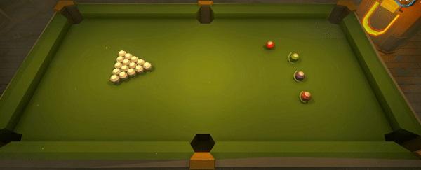 Play Billiard Battle minigame in Pummel Party